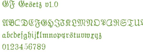 Télécharger la police d'écriture GF Gesetz v1.0