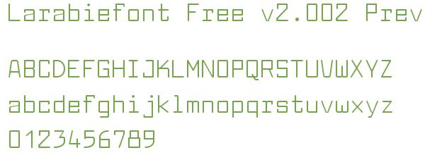 Télécharger la police d'écriture Larabiefont Free v2.002 Previe