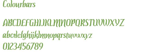Télécharger la police d'écriture Colourbars