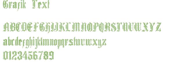 Télécharger la police d'écriture Grafik Text
