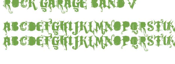 Police d'écriture rock garage band v1.0