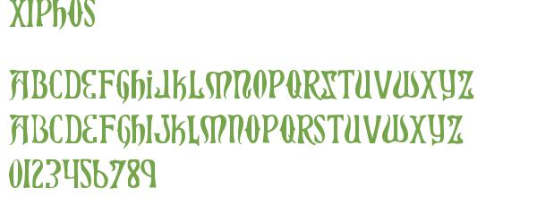 Télécharger la police d'écriture Xiphos