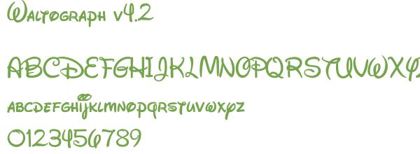 Télécharger la police d'écriture Waltograph v4.2