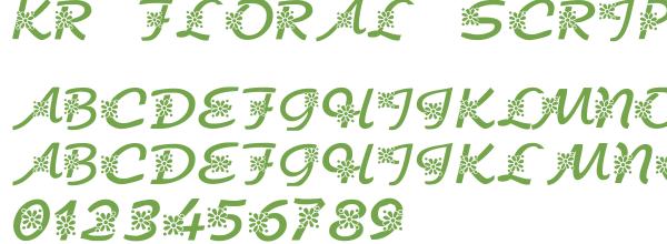 Télécharger la police d'écriture KR Floral Script