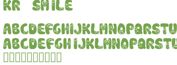 Télécharger la police d'écriture KR Smile
