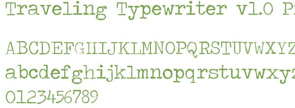 Télécharger la police d'écriture Traveling Typewriter v1.0 Prev