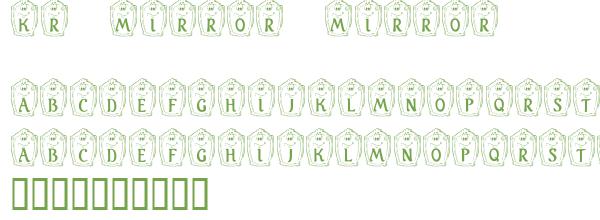Télécharger la police d'écriture KR Mirror Mirror