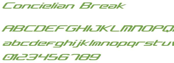 Télécharger la police d'écriture Concielian Break