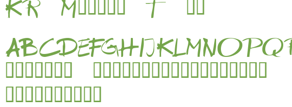 Télécharger la police d'écriture KR Marker Thin