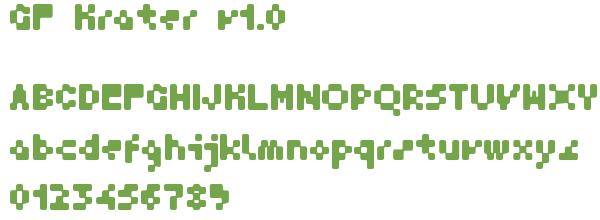 Télécharger la police d'écriture GF Krater v1.0