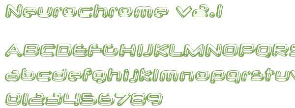 Télécharger la police d'écriture Neurochrome v2.1