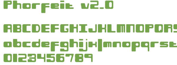 Télécharger la police d'écriture Phorfeit v2.0