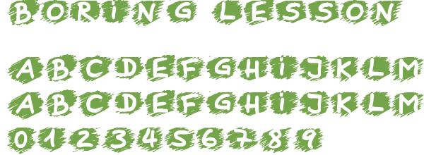 Télécharger la police d'écriture Boring Lesson