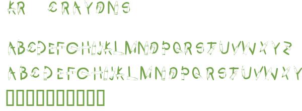 Télécharger la police d'écriture KR Crayons