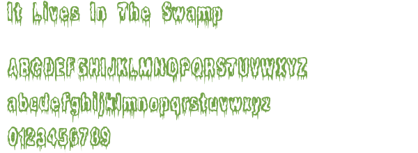 Télécharger la police d'écriture It Lives In The Swamp