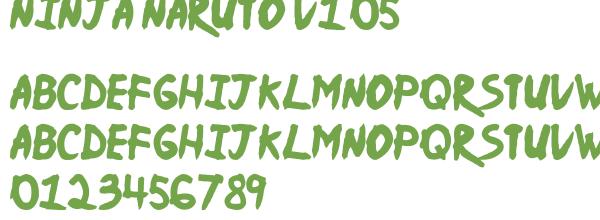 Télécharger la police d'écriture Ninja Naruto v1.05
