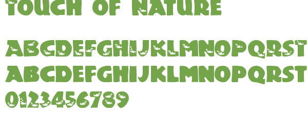Télécharger la police d'écriture Touch of Nature