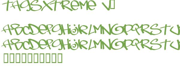 Télécharger la police d'écriture TagsXtreme v2