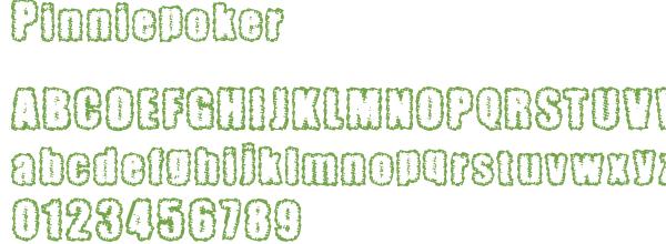 Télécharger la police d'écriture Pinniepoker