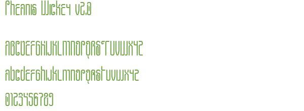 Télécharger la police d'écriture Pheanis Wickey v2.0