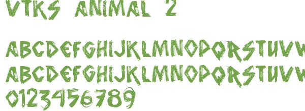 Télécharger la police d'écriture vtks animal 2