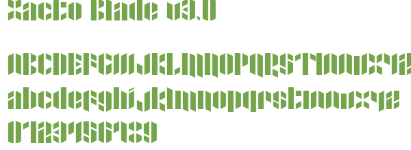 Télécharger la police d'écriture Xacto Blade v3.0