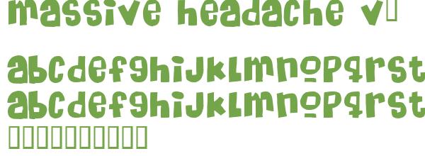Télécharger la police d'écriture Massive Headache v2
