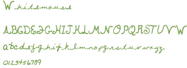 Télécharger la police d'écriture Whitemouse