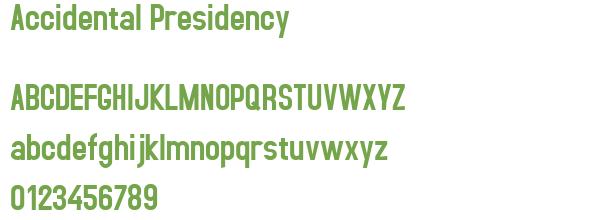 Télécharger la police d'écriture Accidental Presidency