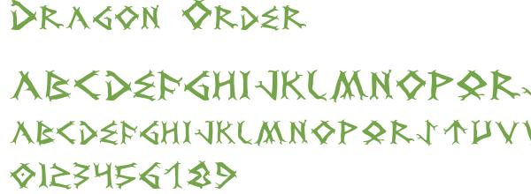 Télécharger la police d'écriture Dragon Order