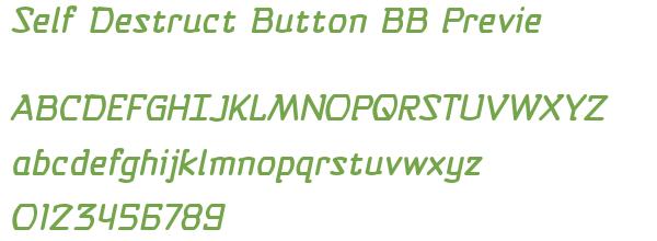 Télécharger la police d'écriture Self Destruct Button BB Previe
