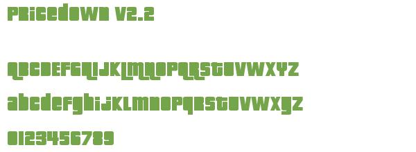 Télécharger la police d'écriture Pricedown v2.2