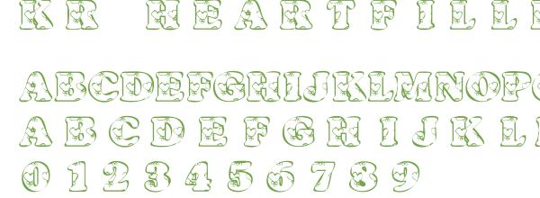Télécharger la police d'écriture KR Heartfilled