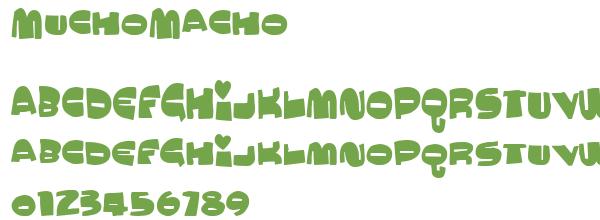 Télécharger la police d'écriture MuchoMacho