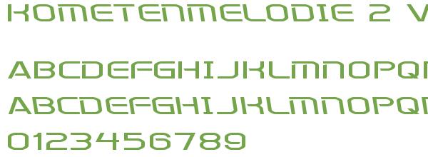 Télécharger la police d'écriture Kometenmelodie 2 v2
