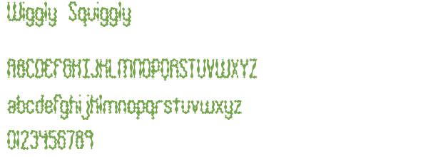 Télécharger la police d'écriture Wiggly Squiggly