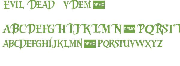 Télécharger la police d'écriture Evil Dead 3 vDemo