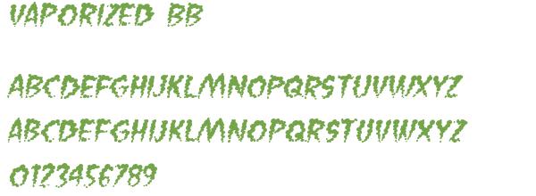 Télécharger la police d'écriture Vaporized BB