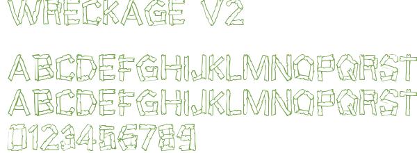 Télécharger la police d'écriture Wreckage v2