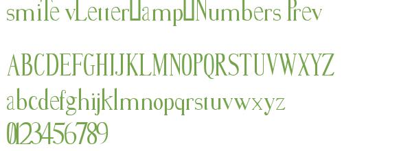 Télécharger la police d'écriture smiTe vLetter&Numbers Prev