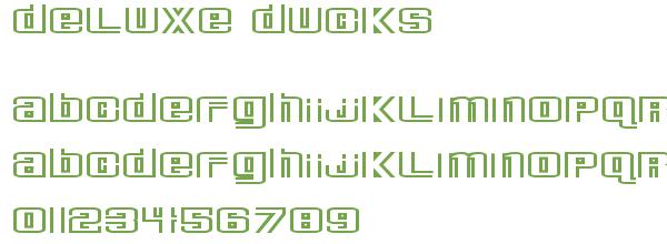 Télécharger la police d'écriture Deluxe Ducks