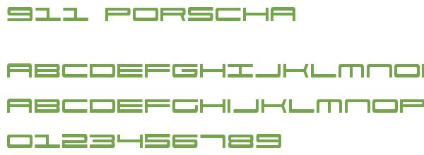 Télécharger la police d'écriture 911 Porscha