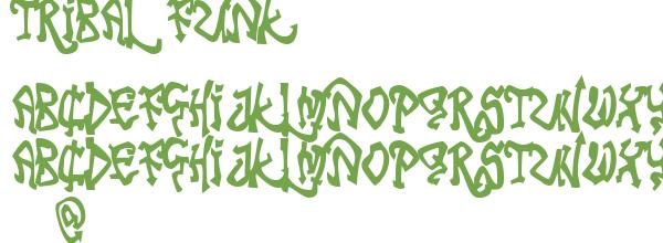 Télécharger la police d'écriture Tribal Funk