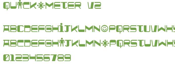 Télécharger la police d'écriture Quickometer v2