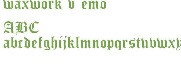Télécharger la police d'écriture waxwork vDemo