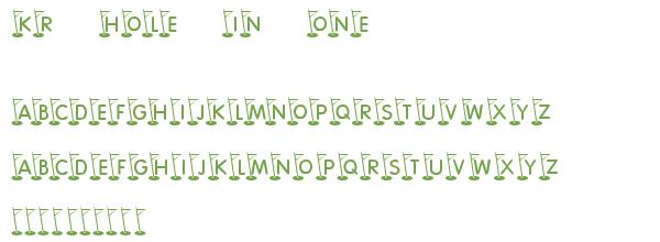 Télécharger la police d'écriture KR Hole In One