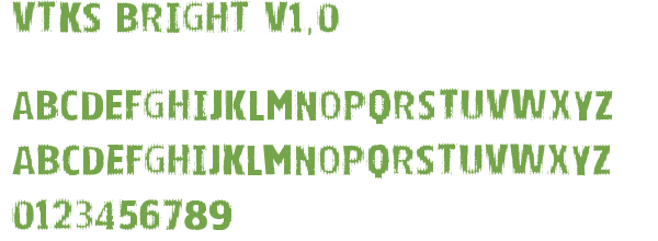 Télécharger la police d'écriture Vtks Bright v1.0