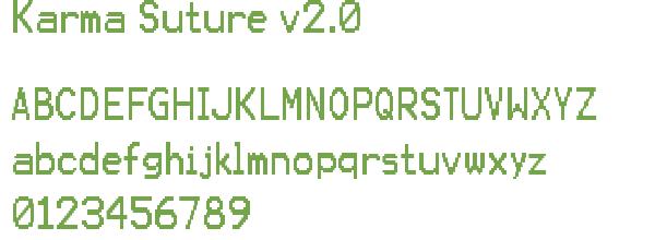 Télécharger la police d'écriture Karma Suture v2.0