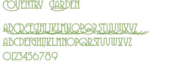 Télécharger la police d'écriture Coventry Garden