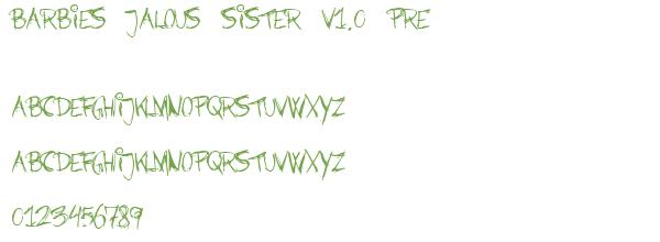 Télécharger la police d'écriture Barbies Jalous Sister v1.0 Pre